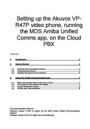 Akuvox R47P installation manual